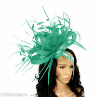 Jade Green Fascinator Hat for ascot Headband