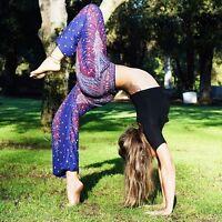 Women Thai Flowy Comfy Yoga Beach Baggy Boho Gypsy Hippie Harem Pants Trousers