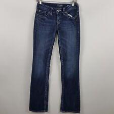 Silver Aiko Boot Cut Women's Dark Wash Blue Jeans Size 26 x 33