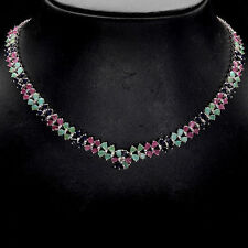Heating Emerald Cluster Fine Necklaces & Pendants
