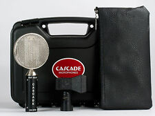 Cascade Fat Head Ribbon Microphone Black Body with Silver Grill
