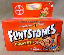 FLINTSTONES COMPLETE Multi Vitamins 4 Flavors 60 Chewable Tablets Exp 05/18 +