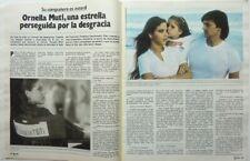 ORNELLA MUTI => 2 pages 1982 SPANISH CLIPPING / COUPURE PRESSE