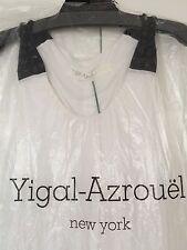 Yigal Azrouel White Black Racerback Jersey Jewel Dress S Small M Medium NWT New