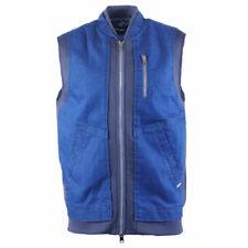 DIESEL Elsy Gile Mens Bomber Denim Jacket Cafe Racer Body Warmer Sleeveless Coat