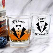 Custom Whiskey Glass For Groomsmen, Best Man Whiskey Glass, Wedding Glasses