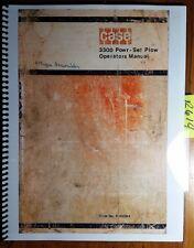 Case IH 3300 3346 3356 3366 3376 3386 Powr-Set Plow Owner's Operator's Manual