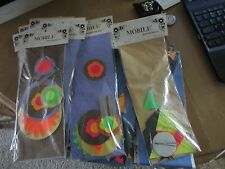 2 VINTAGE FLOURESCENT PAPER MOBILES - FLOWER POWER FULLY ASSEMBLED - MADE IN USA
