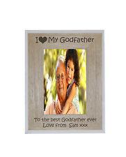 I miei heart-love PADRINO 5 X 7 PHOTO FRAME BIANCO bordo infisso in legno-libera Incidi
