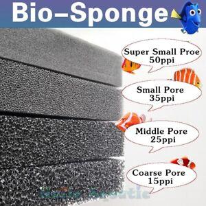 Bio Sponge Filter Media Pad Mat Cut-to-fit Foam for Aquarium Fish Pond Reef Tank