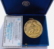 Rubens official UNESCO vintage bronze medal medaille Santucci 1977 Original box