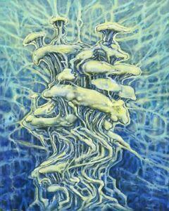 Visionary Wall Art Mycology Print Sci Fi Magic Mushroom Picture Dreamscape 11x14