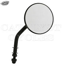 """Black 3"""" Round Mirror for Harley Round Mirror with Adjustable Stem"""