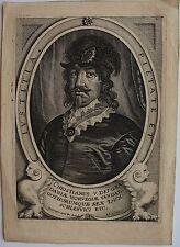 PETRUS DE JODE (1606 -1674): Portrait de Christianus V. Dei gra. Daniae Norvegia