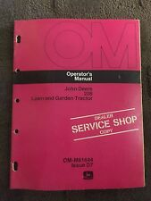 John Deere 208 Lawn and Garden Tractor Operator's Manual Service Shop Copy