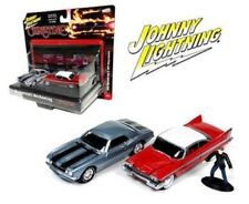 JOHNNY LIGHTNING CHRISTINE 1/64 1958 PLYMOUTH FURY & 1967 CHEVY CAMARO JLCP7042