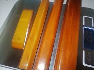 Lot Vintage Phenolic Amber Bakelite Catalin Door Drawer Handle 209g Marbled