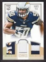 2013 National Treasures NFL Gear Triple Patch #22 Manti Te'o 13/25 Chargers