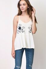 Flower Embroidered Boho Top