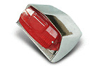 LAMBRETTA REAR LIGHT TAIL LIGHT SERIES 3 LI TV SX SPECIAL POLISHED ALLOY BACK