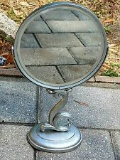 Vintage beveled Art deco Vanity dresser Mirror Swivel antique silver