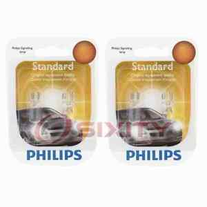 2 pc Philips License Plate Light Bulbs for Porsche Cayenne Macan 2011-2018 wu