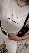 Sandra Mansour x H&M Cream Printed T Shirt Sizes S_M_L_XL