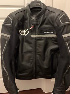 ORIGINAL Berik 2.0 Technical Motorcycle Jacket in Leather - Black Gray – Size 56