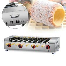 Stainless Steel Cake Dessert Oven Grill Machine Commercial Lpg Gas With8x Roller