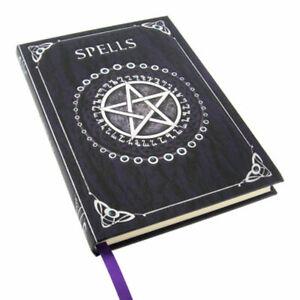 NEW Spells Pentagram Journal Wicca Blank Book of Shadows Foil Embossed (Purple)