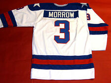 KEN MORROW CUSTOM 1980 TEAM USA HOCKEY JERSEY MIRACLE ON ICE
