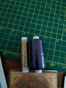 Devere Yarn Silk Thread Old Gold 18/49 1 x 50m spool & 1 x 250m Buddleia 18/72