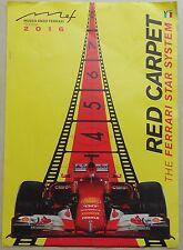 Museo Casa Enzo Ferrari 2016 Modena Red Carpet Poster Ital no Brochure Prospekt