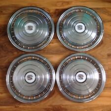 SET OF 4 OLD CLASSIC 70s VINTAGE 16 INCH CADILLAC CHROME WHEEL TRIMS ALLOYS CAPS
