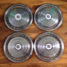 Lot de 4 vieux classique 70 s vintage 16 in (environ 40.64 cm) CADILLAC Chrome Enjoliveurs Alliages Caps