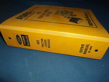 FORD NEW HOLLAND 455 TRACTOR LOADER BACKHOE SERVICE SHOP REPAIR MANUAL BOOK