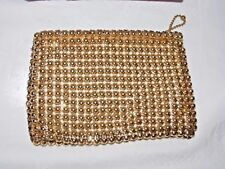Vintage WHITING & DAVIS Small Gold Mesh Sac A Main Sac Authentique années 1940?