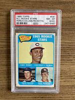 1965 Topps #581 NL Rookie Stars w/ Tony Perez RC HOF PSA 8 OC NM-MT