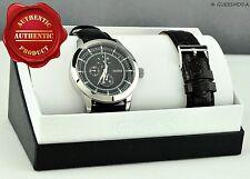 Nuevo Elegante Reloj Guess 100% Original 2 en 1 de cuero negro y marrón de hombre U0293G1