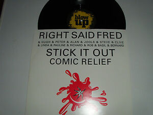 """RIGHT SAID FRED AND FRIENDS stick it out 12"""" blow up INT 125.984"""
