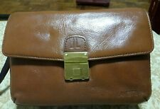 LANCETTI MILANO Genuine Leather Clutch Bag