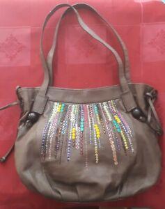 BNWOT Butterfly Matthew Williamson 100% Leather Tote Bag Handbag Shoulder Bag