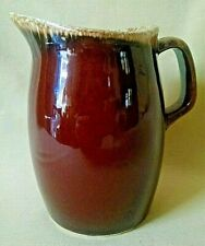 "HULL PITCHER MINI MINIATURE BROWN DRIP VINTAGE CREAMER USA STAMPED PRICE 4 1/2""."