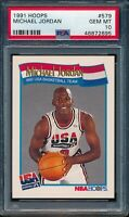 PSA 10 MICHAEL JORDAN 1991-92 91-92 Hoops #579 Olympic Team USA GOAT GEM MINT