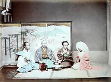 1886 Japan Samurai Japanese Man Women Sword Screen 7x5 Inch Reprint Photo