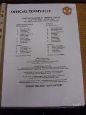 21/03/2014 Manchester United U21 v Chelsea U21 [At Leigh] (single sheet). If thi
