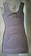 Le Chateau Dress -Dark Purple Sleeveless Dress Bodycon Size XXS