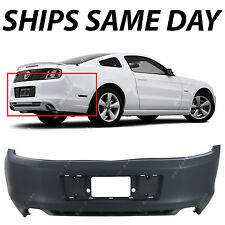 NEW Primered -- Rear Bumper Cover for 2013 2014 Ford Mustang Without Park Assist