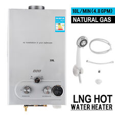 18L Natural Gas Hot Water Heater On Demand Instant Boiler Tankless Water Heater