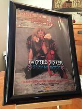 "BIG 9x12 FRAMED ORIGINAL TWISTED SISTER ""STAY HUNGRY"" VIDEO LP ALBUM CD PROMO AD"